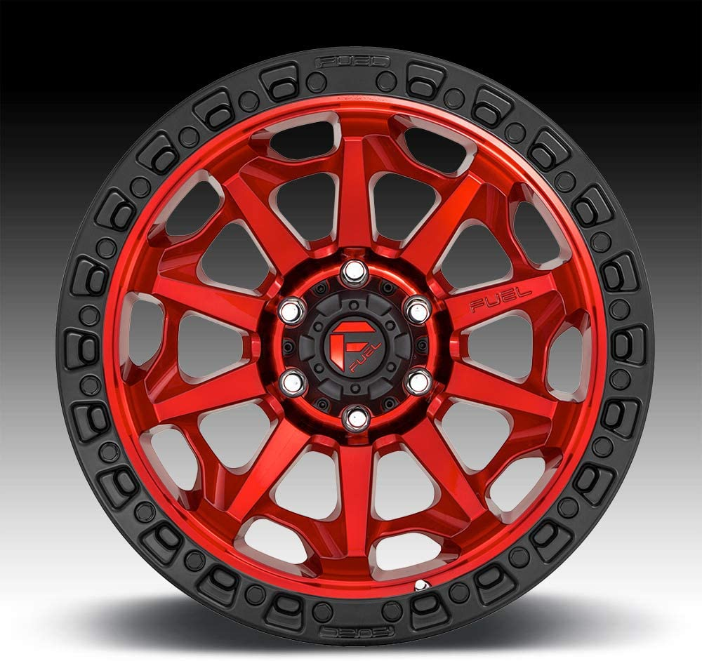 17 x 9. inches //5 x 127 mm, -12 mm Offset FUEL 1PC D695 COVERT RED Wheel with Painted and TPMS Compatible