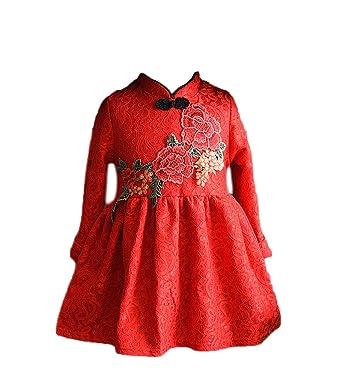 5f0cc7a80a4f0f Amazon.com  EXCELLANYARD Girl s Cheongsam Chinese Qipao Dress  Clothing