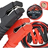 Voilamart Auto Jumper Cables 2/0 Gauge 3000AMP 20Ft w/ Carry Bag, Instruction Slip, Commercial Grade Automotive Booster Cables, Heavy Duty for Car Van Truck