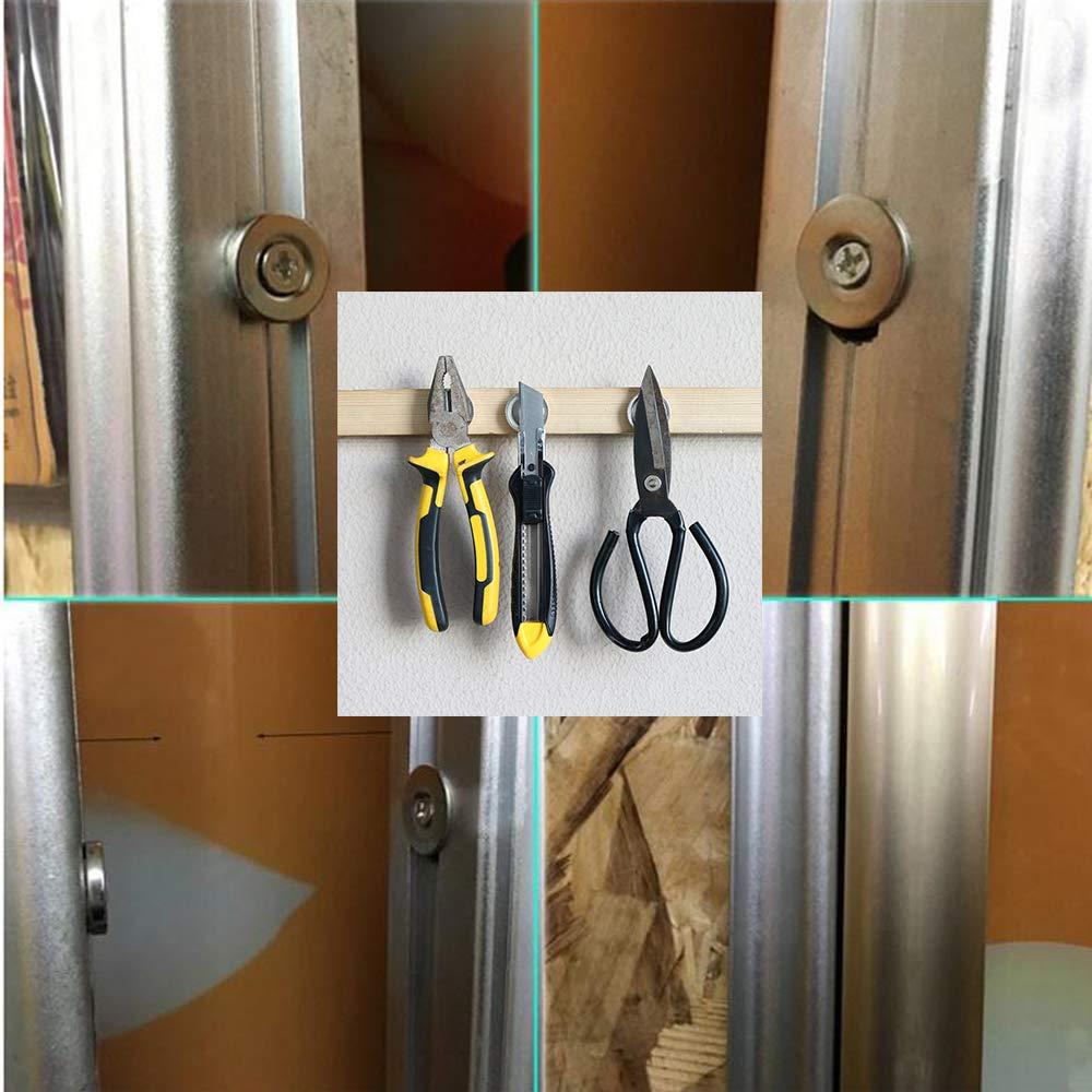 Mutuactor 2 PCS imanes redondos de neodimio de con agujero 42 kg,Perfecto para Cierre de puerta o soporte de herramientas de montaje en pared,Herramientas,Cocina,Bricolaje,Industria: Amazon.es: Industria, empresas y ciencia