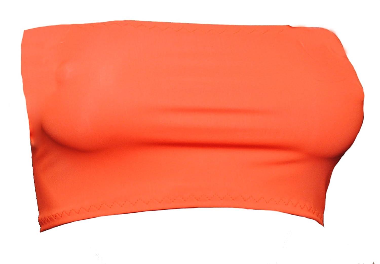 B70 UV brillante naranja Lycra Boob Tubo Mini Top sin tirantes sujetador sin apoyo [tamaños 4 - 18]: Amazon.es: Ropa y accesorios