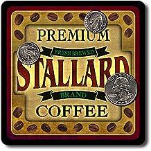 Stallard Coffee Neoprene Rubber Drink Coasters - 4 Pack