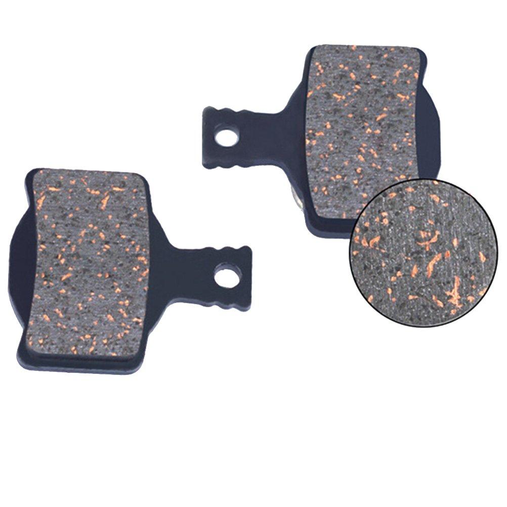 WINOMO Bike Disc Bremsbel/äge Organic Semi-Metallic Bremsbel/äge mit Distanzscheibe f/ür Scheibenbremssystem Glatte und leistungsst/ärkere Bremsung Weniger harte Ger/äusche DS-09S