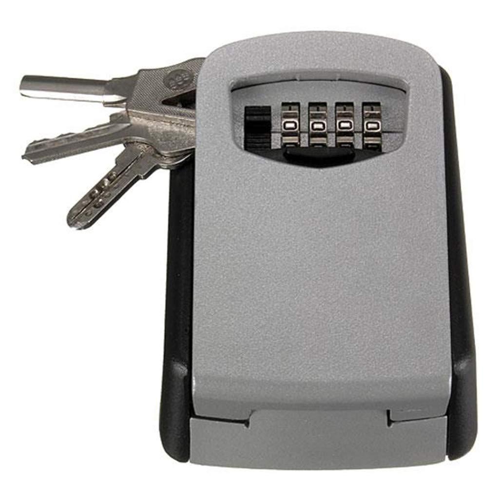 LOVEPET Key Safe Smart Portable Password Steel Wall Mount Key Box Gray & Black (4.80'' X 3.43'' X 1.57'')
