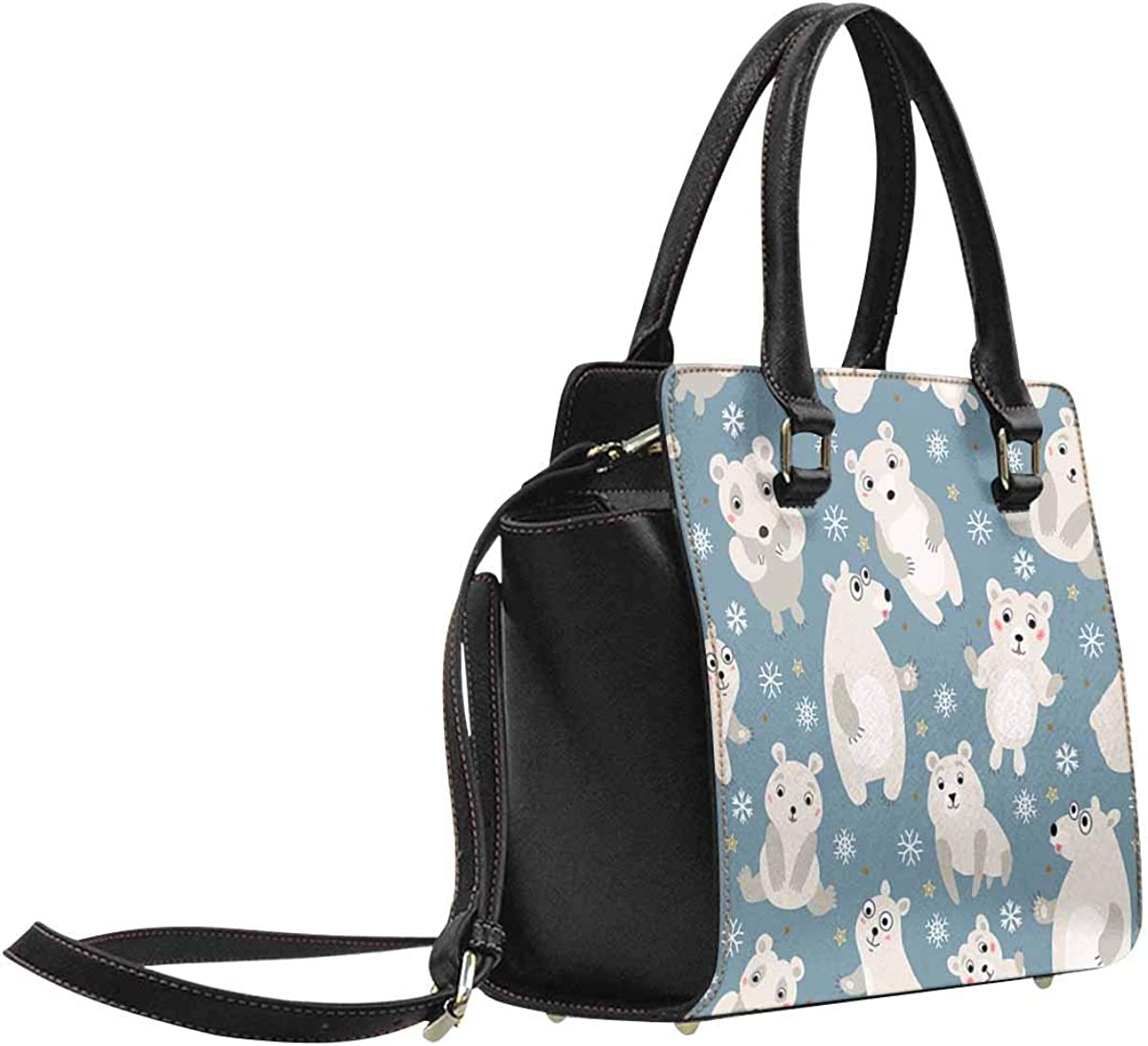 INTERESTPRINT Polar Bear Arctic Animals Crossbody Bags Purses Shoulder Bag for Women