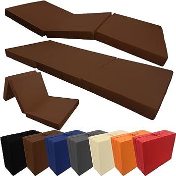 PROHEIM Colchón Plegable Compacto 190 x 60 x 7 cm Cómodo Colchón Plegable con Funda Microfibra Cama Not Cómoda Invitados Cama de Invitados: Amazon.es: Hogar