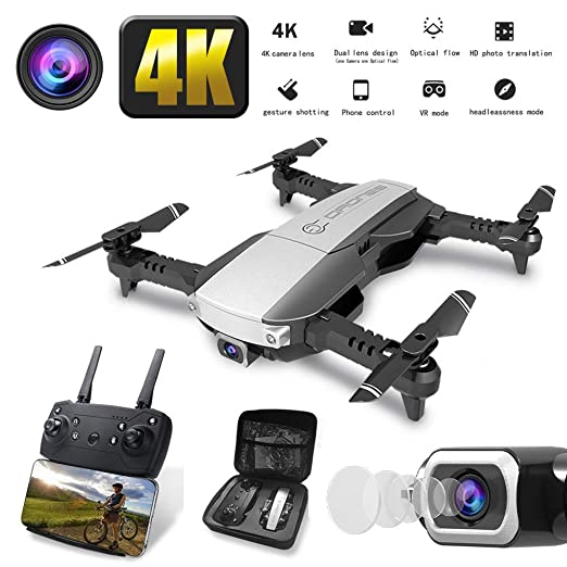 MROSW H3 Mini Drone 4K HD Doble Cámara WiFi Tiempo Real FPV Aérea ...