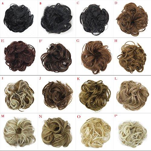 Junshion Women's Curly Messy Bun Hair Twirl Piece Scrunchie Wigs Extensions by Junshion (Image #2)