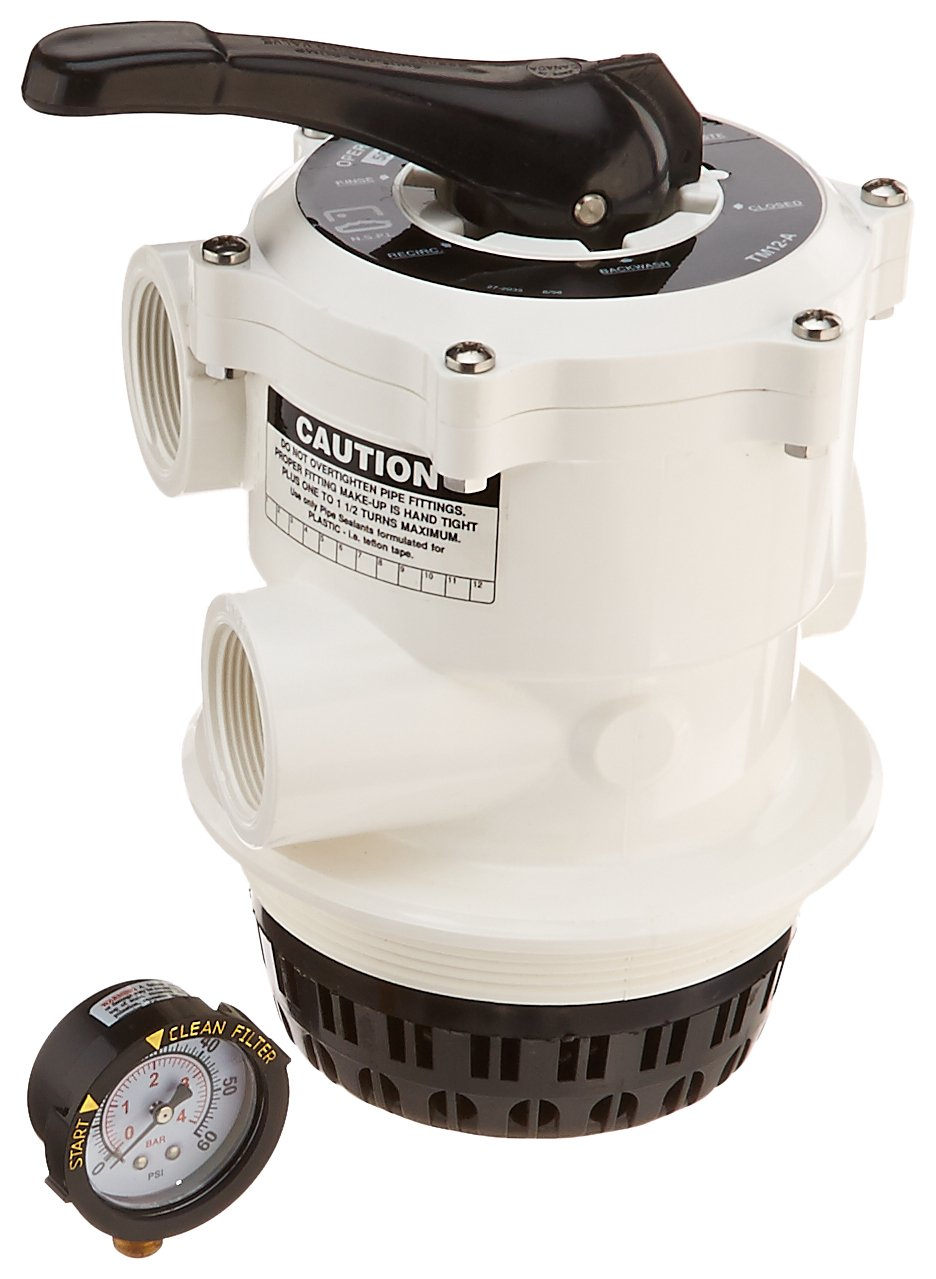 Pentair 261124 White 1-1/2-Inch Multiport Valve with V-Thread Replacement Tagelus Pool and Spa Sand Filter by Pentair