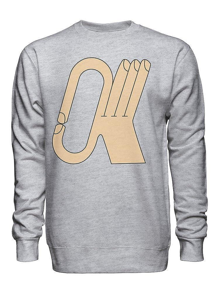 Approved Fingers OK Hand Unisex Crew Neck Sweatshirt