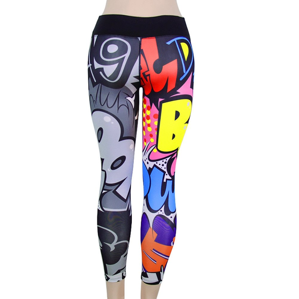 SHOBDW Mujer Pantalones de Yoga Estampado de Entrenamiento Correr ...