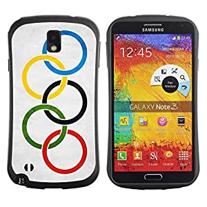 Fuerte Suave TPU GEL Caso Carcasa de Protección Funda para Samsung Note 3 N9000 N9002 N9005 / Business Style National Flag Nation Country Olympic Flag