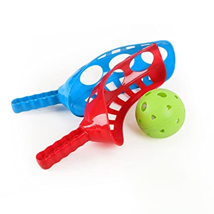 Amazon.com: ixaer Ball Paddle Catch and Toss Game Set (Fun-Air Scoop Ball): Toys & Games