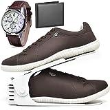 Kit Sapatênis Sapato Casual Com Organizador, Carteira e Relógio Masculino DUBUY 900DB
