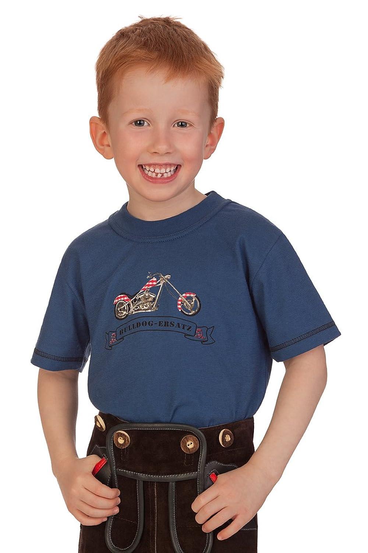 Trachten Kinder Fun Shirt - BIKE - oliv, jeansblau