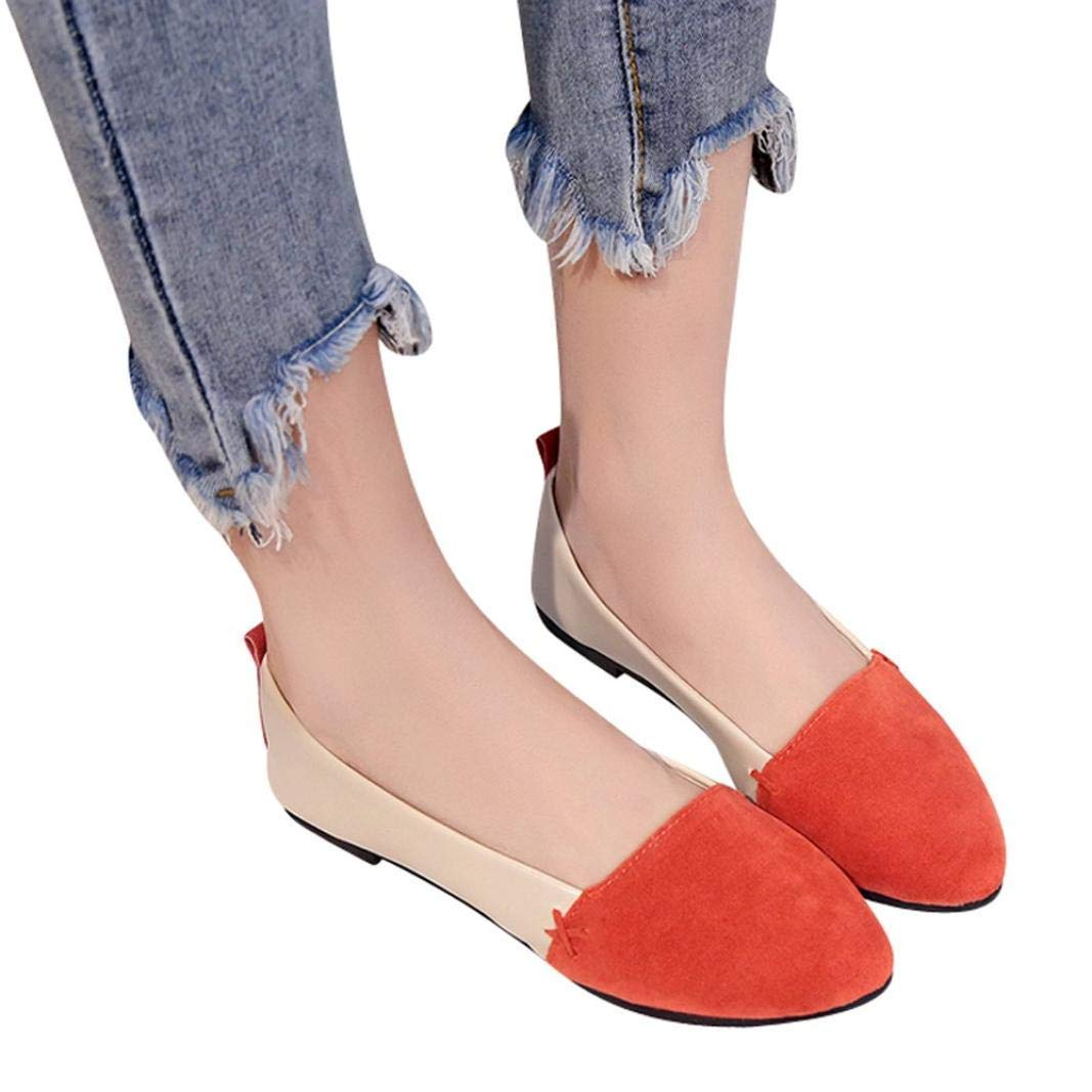 Free US Shipping US 7 Vintage Amber Suede Flats w Embroidered Pointed Toe