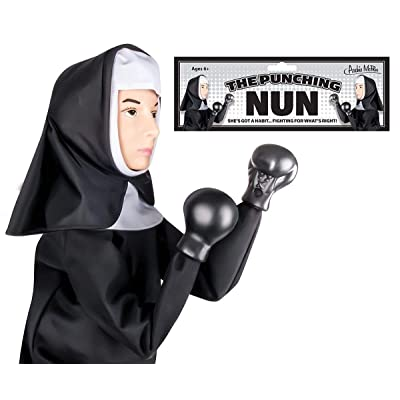 Accoutrements The Punching Nun Puppet ,13 inches ,Multi-colored: Home & Kitchen