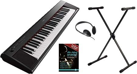 Yamaha piag Gero NP LI-12B Portable Piano Set (61 teclas sensibles al tacto, 10 sonidos de Top, Record de función, incluye soporte para teclado, ...
