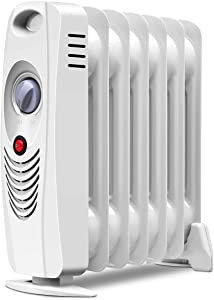 Tangkula Oil Filled Radiator Heater, 700W Portable Space Heater Radiator with Adjustable Thermostat, Overheat & Tip-Over Protection, Electric Oil Heater for Home, Bedroom, Indoor use