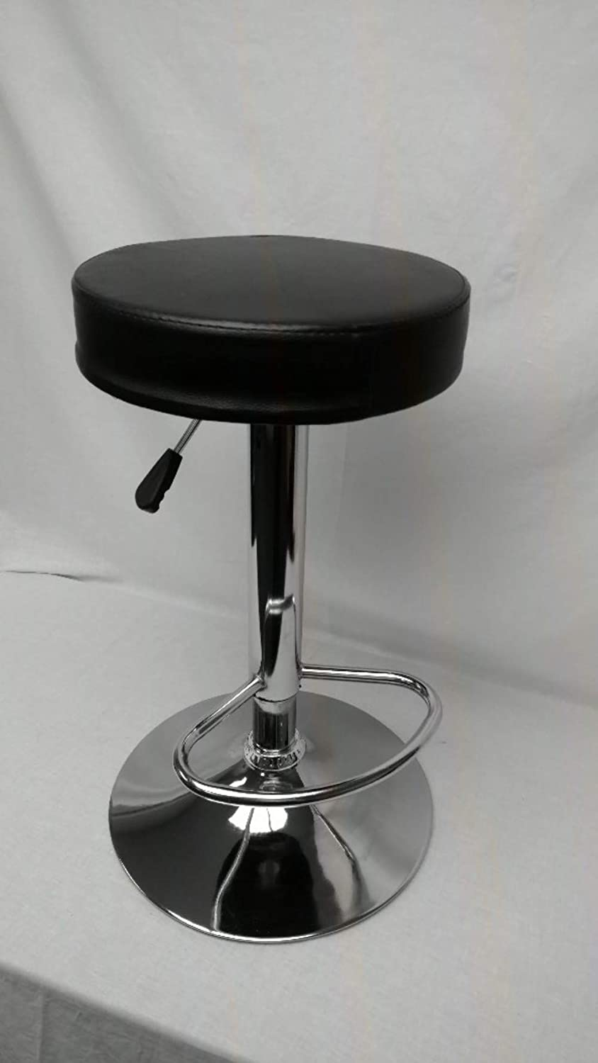 RetroArcade.us ra-Stool-Upright Arcade Stool Adjustable Chair seat for Upright Style Arcade Games Like Pacman, Black