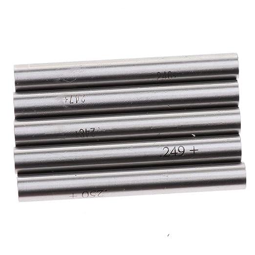 FLAMEER 190PCS Pin Gauge Set M1 Minus tolerance: +0//-.0002 Inch 0.061-0.250 Inch