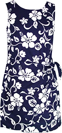 4f4a0fe96d9 RJC Women s Hibiscus Pareo Hawaiian Mock Wrap Sarong Dress at Amazon ...