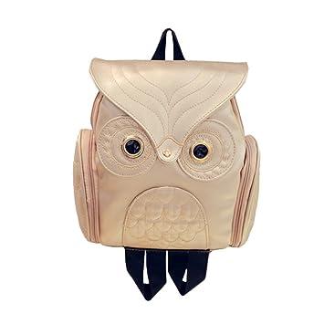 Mochilas Casual de Escolares para Mujeres Chicas y Niñas Gran Capacidad Casual Mochila USA Diario de Piel de la PU Messenger Bag Backpack (Dorado): ...