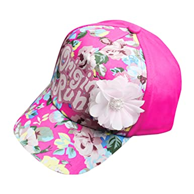 b13ca5c8728 Happy Cherry Bébé Fille Chapeau de Soleil Casquette de Base-ball en Coton  Imprimé à