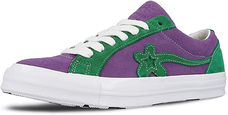 Amazon Com Converse One Star Ox Tyler The Creator Golf Le Fleur Purple Green 162128c Us Size 9 Fashion Sneakers