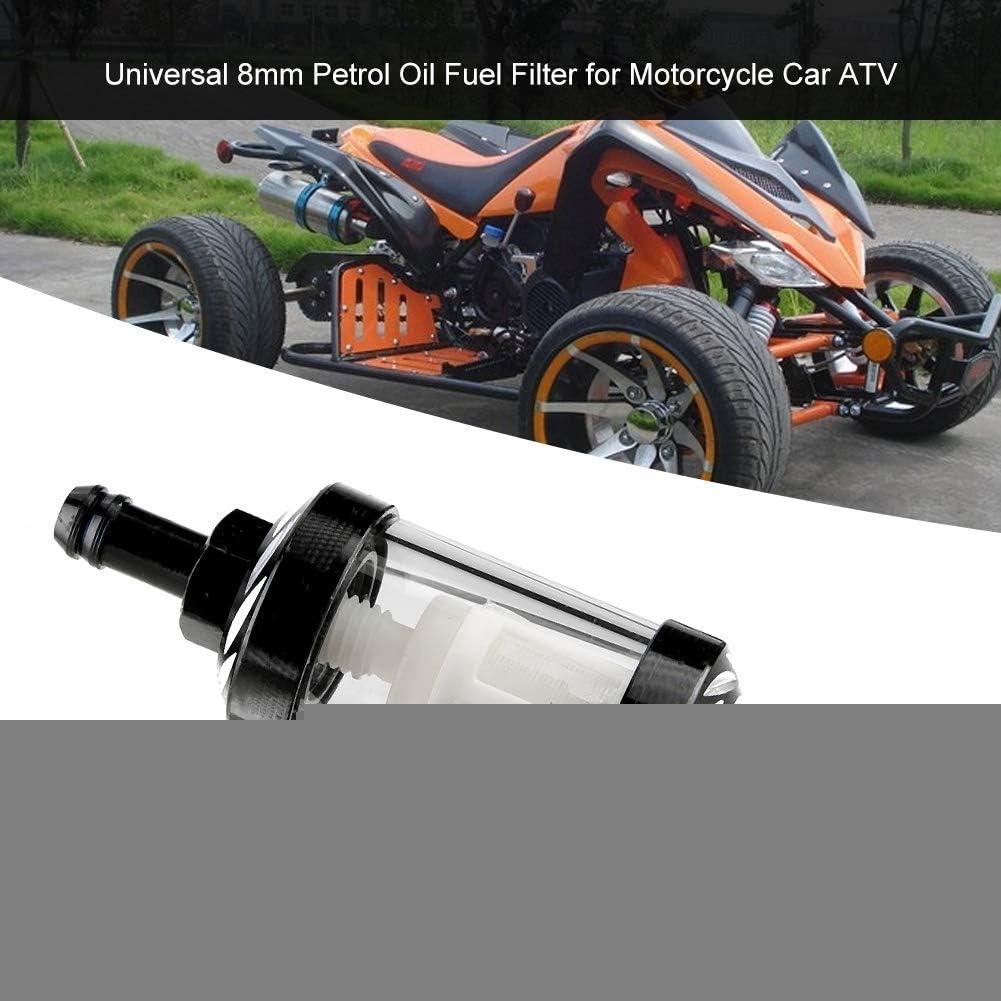 Filtre /à Essence,Akozon Filtre /à Essence Universel 8mm pour Moto ATV