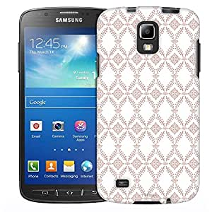 Samsung Galaxy S4 Active Case, Slim Fit Snap On Cover by Trek Victorian Wallpaper Tan on White Case