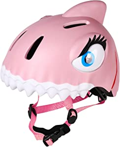 animiles Kids Bike Helmet Toddler Helmet Adjustable 3D Shark Bicycle Helmets for Kids 3-8