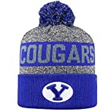 Top of the World NCAA'Artic' Striped Cuffed Knit Pom Beanie Hat-BYU Cougars
