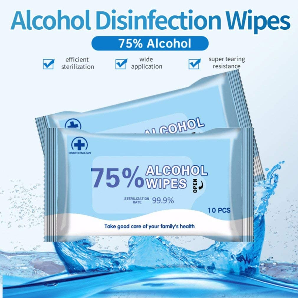 Hand Moist Wipes Disinfectant Wipes Health Clean Wipes for Hands Care Cleaning Wet Wipes Tissue, 3 Pack,30 Wipes 75/% Alcohol Wet Wipes