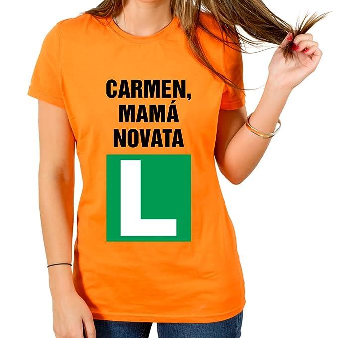 Calledelregalo Regalo para Madres Personalizable: Camiseta mamá novata Personalizada con su Nombre y