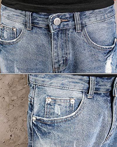 Usados Cómodos Usados Mezclilla Ocasionales Retro Cortos Cortos Ropa Look Tamaños De Estirados Denim Jeans Bermuda Destroyed Pantalones Regular Pantalones Pantalones Slim Pantalones Colour Cortos fpxO8HqwHP