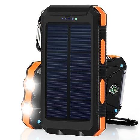 Surenhap Cargador Solar Power Bank 10000 mAH con 2 de ...