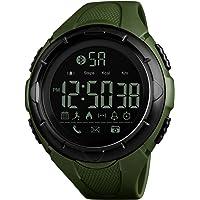 SKMEI Smartwatch Deportivo con Pantalla Digital, Resistente al Agua, con Funciones de Salud. Podómetro, Contador de Calorías, Medidor de Distancia, Notificaciones de Redes Sociales, Conexión Bluetooth, Modelo 1326. NEGRO