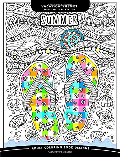 Download Summer Coloring Book: An Adutl coloring books Relax you mood with Sea, Beach and Animal in the garden flower and floral ebook