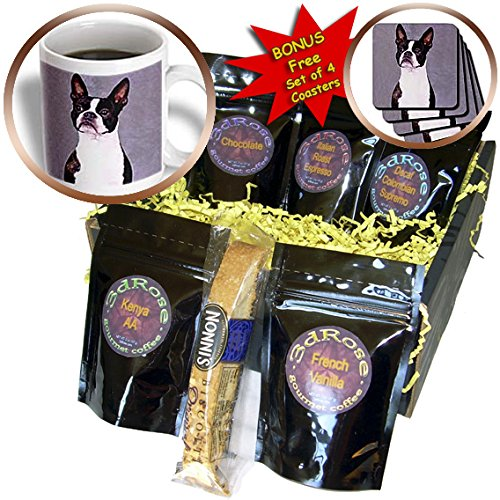 Dogs Boston Terrier - Boston Terrier - Coffee Gift Baskets - Coffee Gift Basket (cgb_267_1)