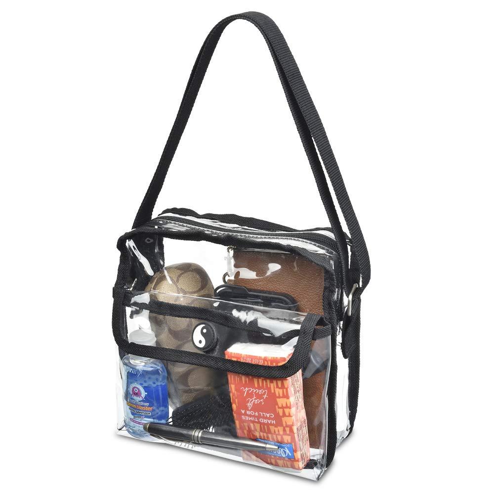 acc316a1f646 Clear Crossbody Messenger Shoulder Bag With Adjustable Strap NFL Stadium  Approved