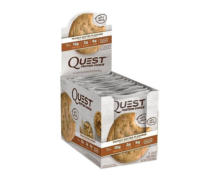 Quest Nutrition Galletas de proteína 15g de proteínas, carbohidratos 5g, 250 cal, Cookie