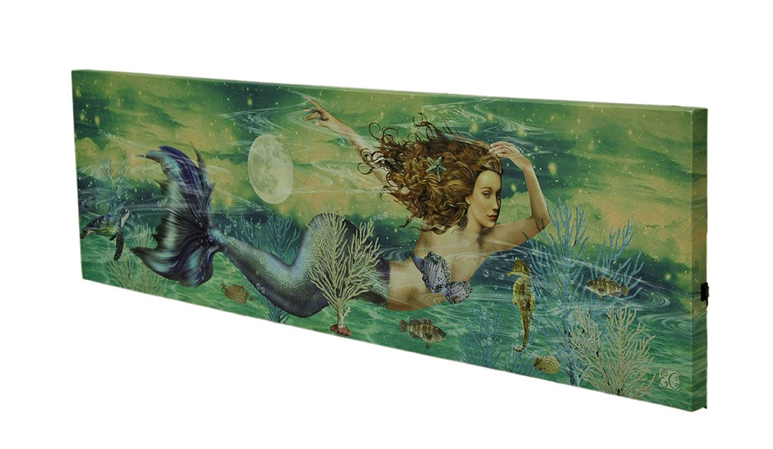 OHIO WHOLESALE, INC. Lighted Mermaid Canvas
