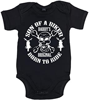 a1cea6826 Sons of Anarchy Soa Reaper Insignia Black Baby Infant Creeper Romper ...