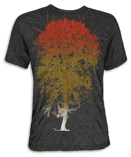 Pure Clothing Camiseta Hombre Arbol De La Vida Mundo Yoga ...