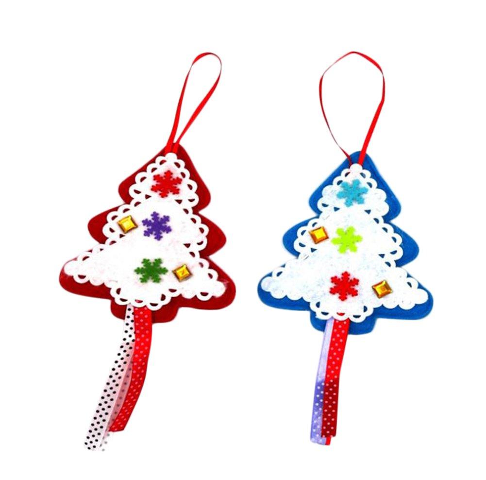 Natale ciondolo Pentagram Series palline per albero di Natale da appendere, per festival decorazione, Panno, Multicolor 1, 11X13X10CM Youkara