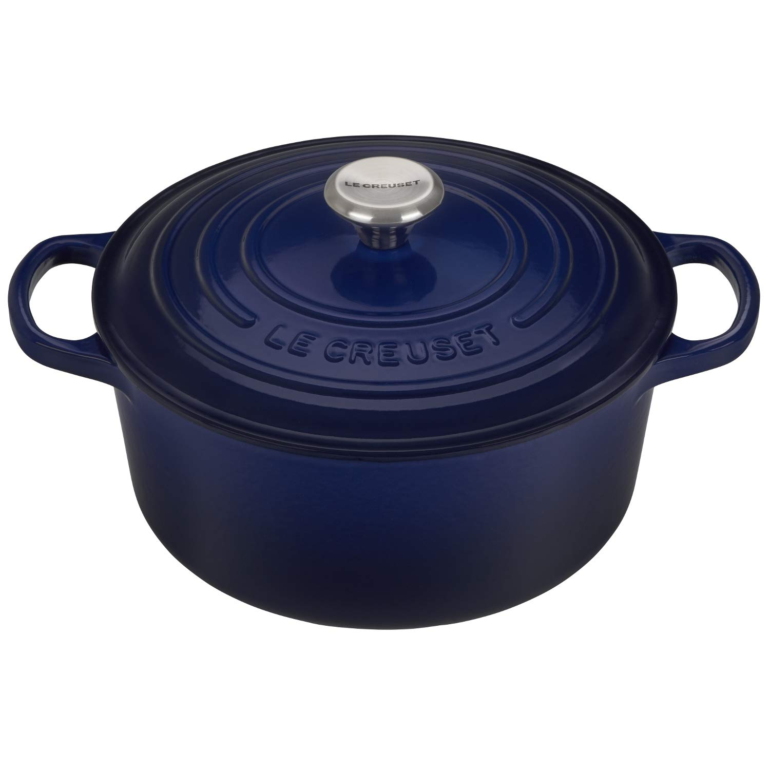 Le Creuset Signature Indigo Enameled Cast Iron 3.5 Quart Round French Oven