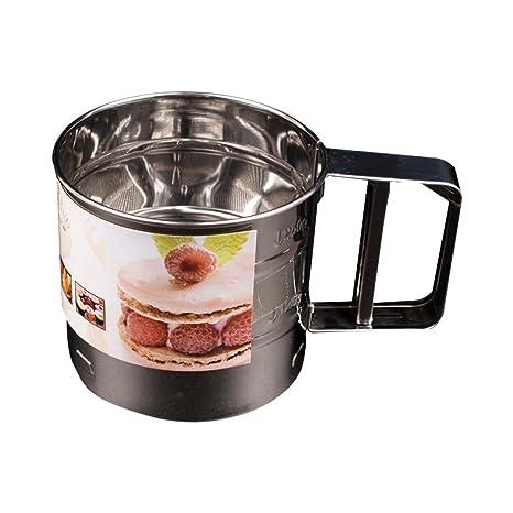 naisicatar tamiz para harina filtro molde azúcar hielo polvo colador de acero inoxidable ideal para el tamisage de harina, de azúcar hielo, de polvo ...