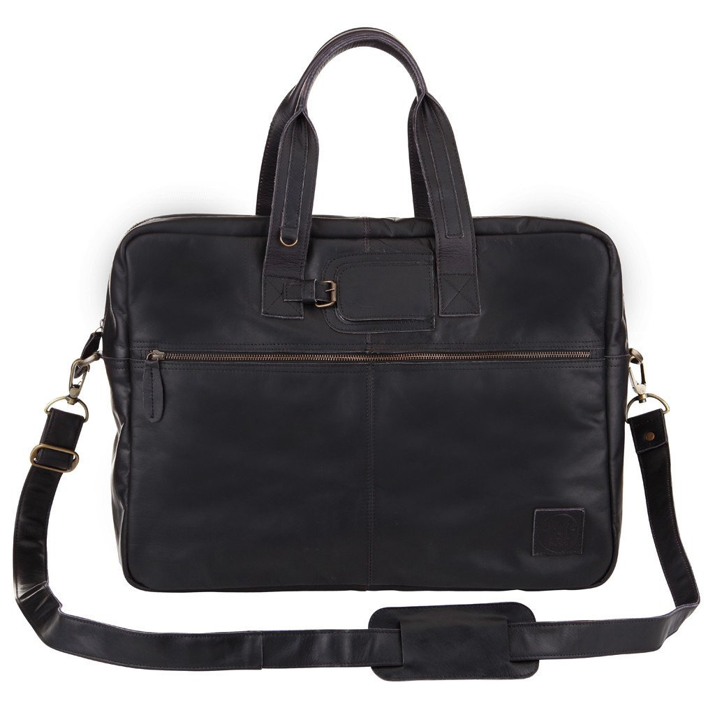 ホールドオール ビジネスバッグ ブラックレザー 黒革 MAHI Leather   B00UU07ML0