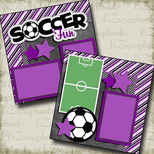 Soccer Fun Purple - Premade Scrapbook Pages - EZ Layout 3290 ()